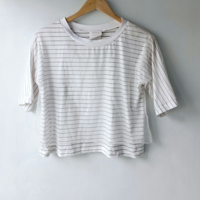 Stripes Top with Mesh