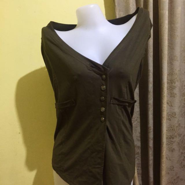 Stylish Moss Green Vest