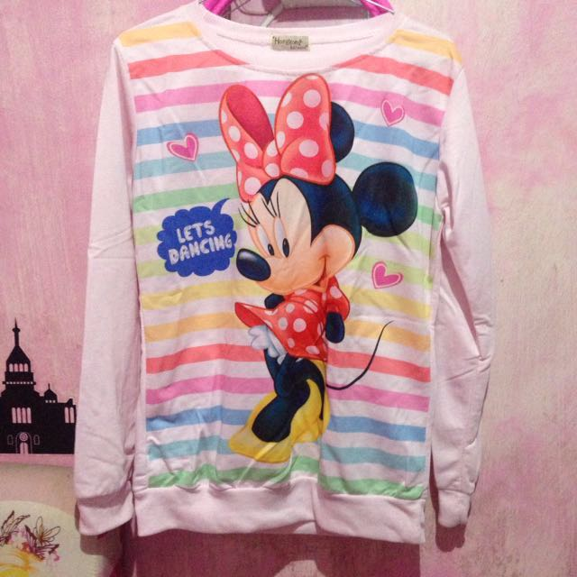 Sweater Minnie Mouse Pink