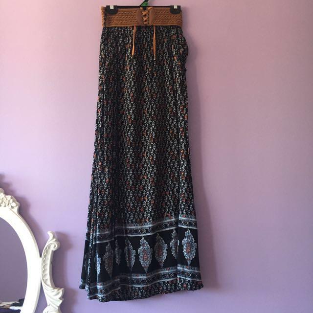 TEMT | Boho Maxi Skirt