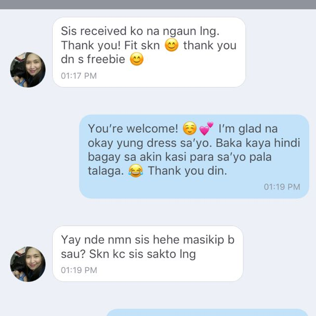 Thank you and you're welcome! 💕 on Carousell