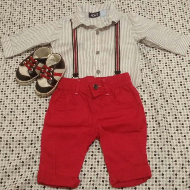 The children's place terno polo and pants (Canadian brand)