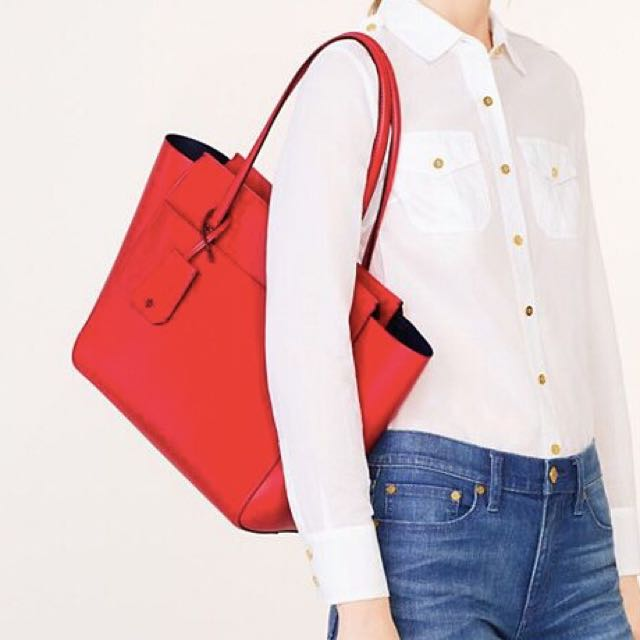 Tory Burch Parker Tote Red