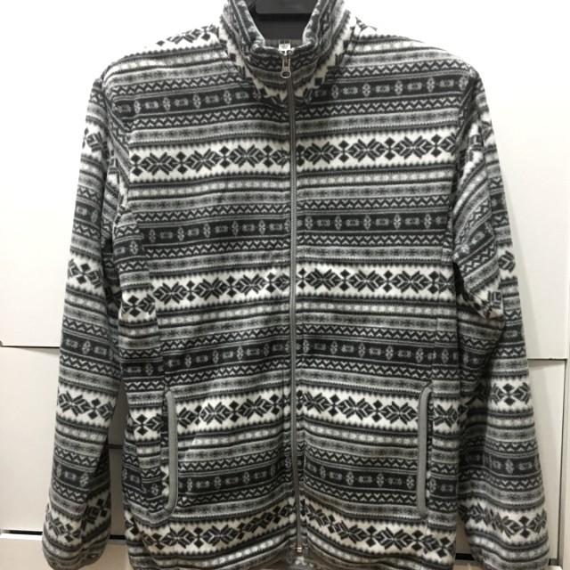 Uniqlo 民族風 北歐風 印花刷毛外套