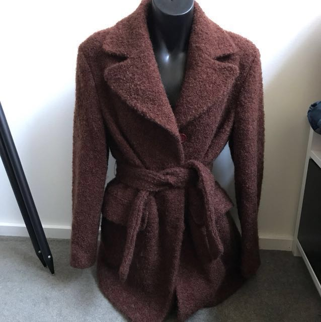 United colours Of Benetton made in Italy wool and mohair brown trench coat