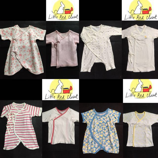 Unused and preloved onesies and tiesides for baby girl newborn to 6 months