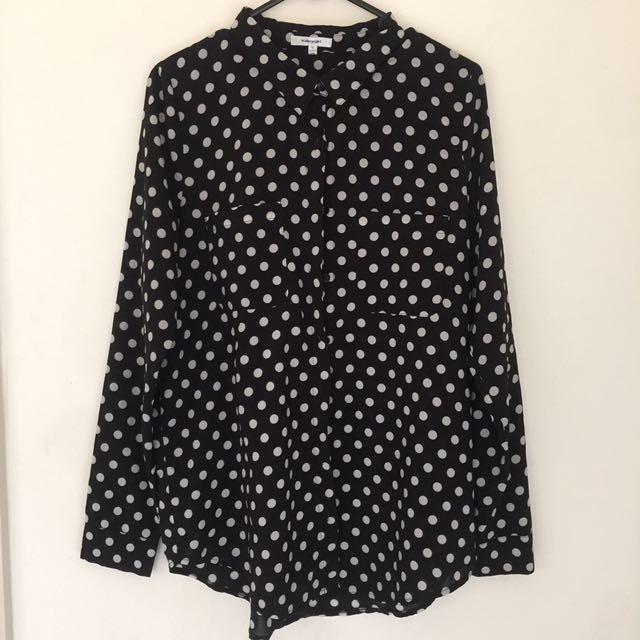 VALLEYGIRL Dot Shirt Size 10