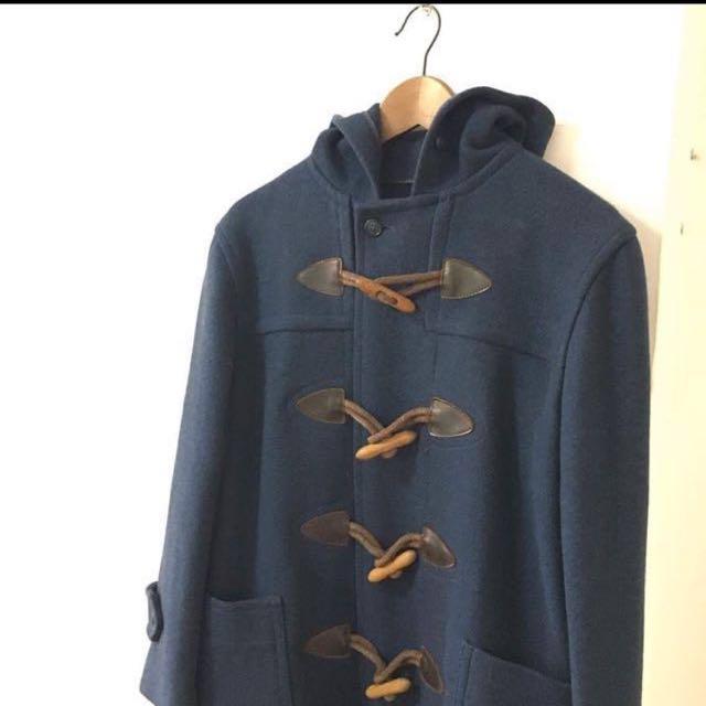 日本古著二手VAN牛角扣大衣連帽外套 紳士西裝羊毛