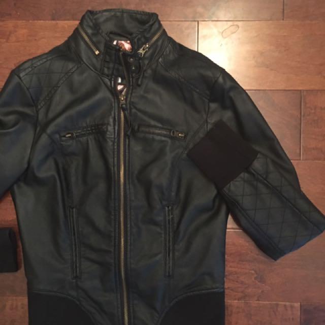 Vegan leather jacket, size S