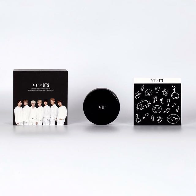 VTXBTS Collagen Pact (Black Edition) BTS VT + Official Bromide in Tube + Free Gifts