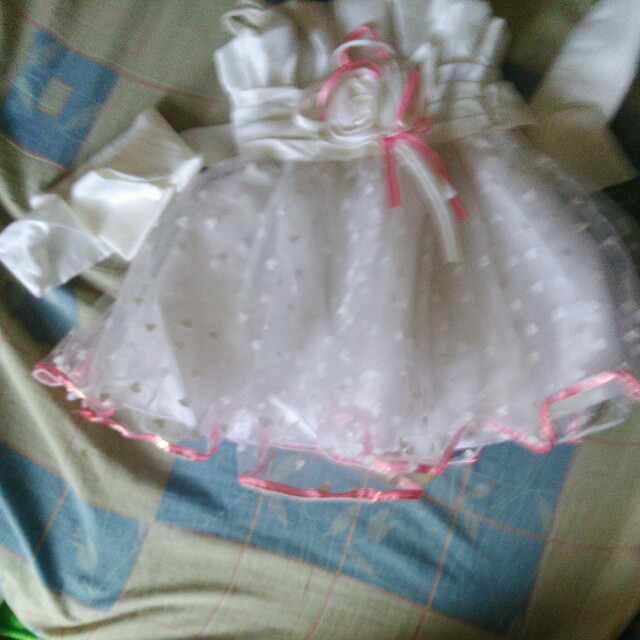 White Dress with Heart Design