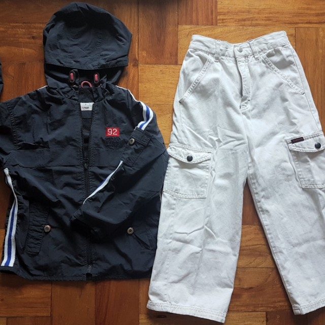 (FREE SHIPPING) Windbreaker Jacket and Guess Cargo pants