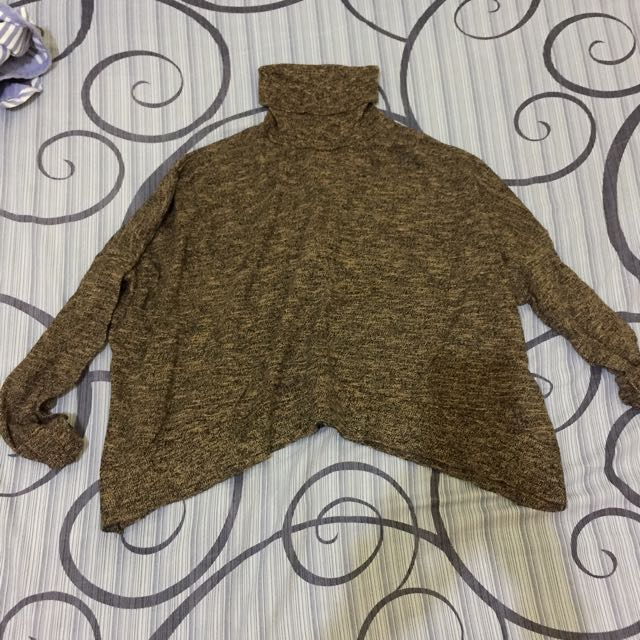 ZARA crop turtle neck