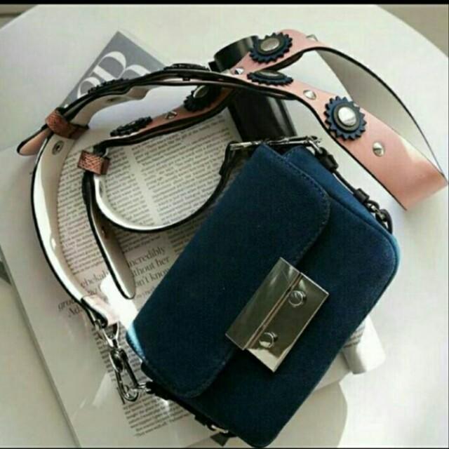 Zara double lock navy