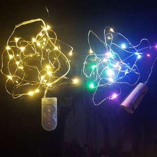 Led燈串 微型電池盒 (連電池)20燈2米/ 30燈3米