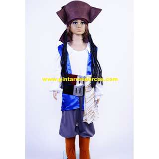 Pirate Jack Halloween Drama Kids Costume