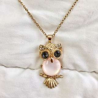 Pretty Pink Owl Necklace