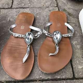 ALDO embellished thong sandals
