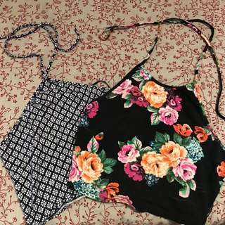 2 F21 halter crop tops
