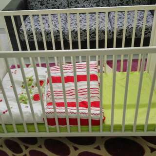 Ikea baby cot + matress + quilt