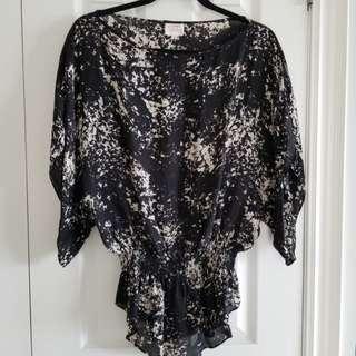 Parker 100% silk blouse XS