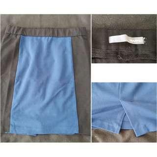 Size M - Smart Set Colour Blocking Pencil Skirt