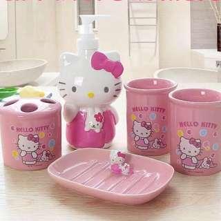 Hello Kitty Bathroom Accessories Set