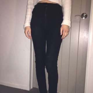 Lonely heart jeans high waisted