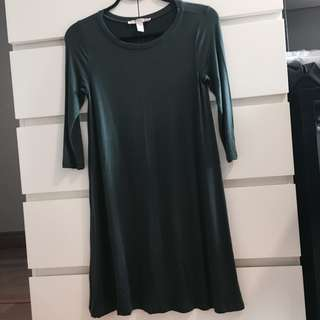 Forever21 Contemporary Line Forest Green Dress
