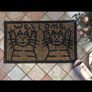 COIR/RUBBER DOOR MAT — CATS' SCRATCHING MAT/LITTER TRAPPING MAT(60/35cm)— LIMITED STOCK