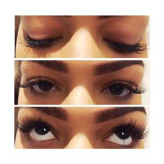 Mink and Synthetic Mink eyelash extensions