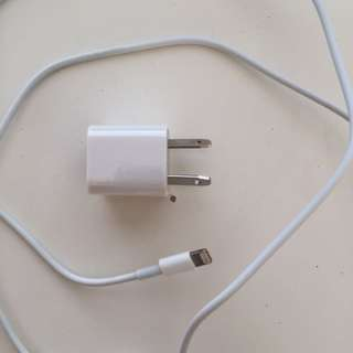 iPhone lightning charger and wall adaptor