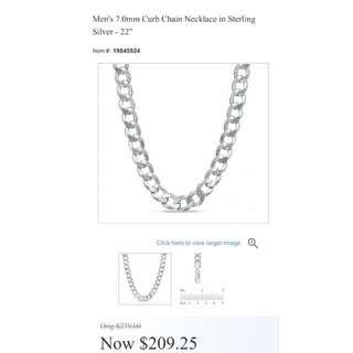 Men's silver(925) thick chain