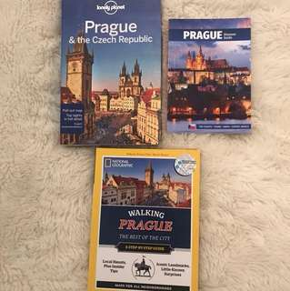 assorted prague travel guides