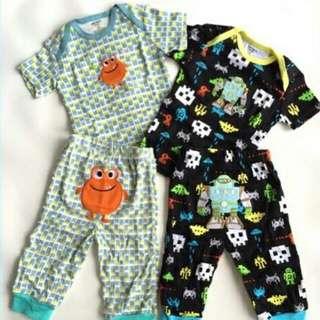 Baby boys and girls clothing pajama and t-shirt terno/pair