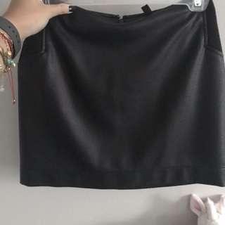 BCBG - black faux leather mini skirt
