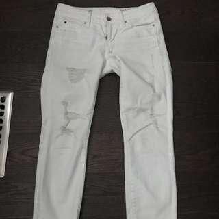 GAP DENIM - white distressed jeans