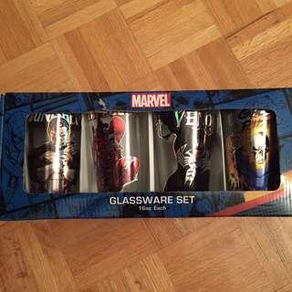 Brand new in box Marvel glassware set