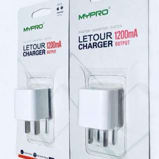(1 SET) Power adapter output: 1.2A plus Charging Cable length: 1 meter