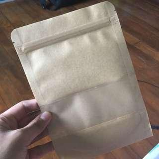 Brown resealable bag