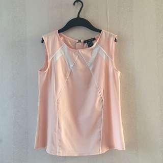 Peach sleeveless top