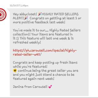 Yey!!😍 For 5th Time Feedback from Carousell!!💯✔ Thank You So Much😙❤
