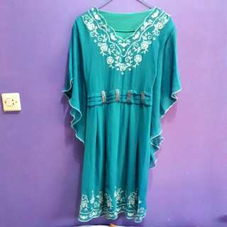 Kaftan Mini Dress