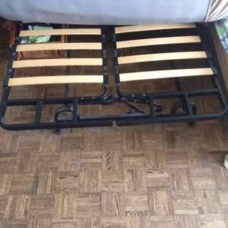 Double bed frame, metal, strong and firm