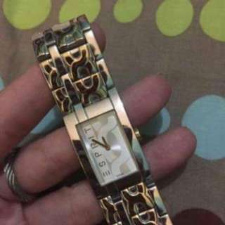 (REPRICED) Preloved Esprit watch 👍👍🏼 two tone