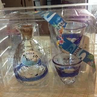 琉球泡盛琉璃酒瓶酒杯