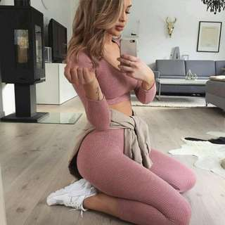 FASHION NOVA WANDERLUST SET MAUVE