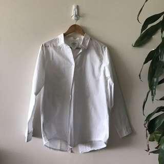 *Cheap Monday* - oversized white button shirt - fits size small/medium