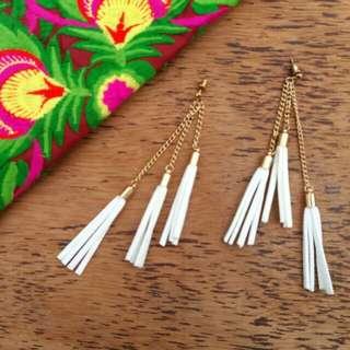 Trio Suede Tassel Earrings