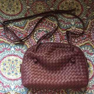 Bottega-inspired sling bag